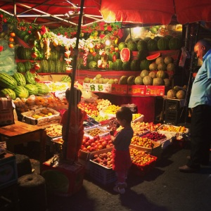 Night market in Urumqi.